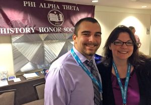 Tarleton State University undergraduates (l-r) Matthew Killingsworth and Cory McCray recently presented their research in Orlando, Fla. during the biennial conference of the National History Honor Society, Phi Alpha Theta.