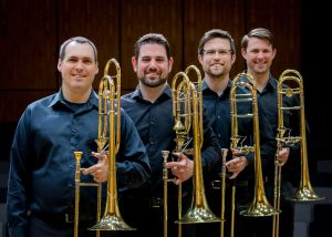 The public is invited to a free concert on Feb. 8 featuring The Bell Street Four Trombone Quartet.