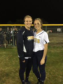 Kali Smith (left) and Madison Gilder delivered the heroics for Stephenville in an eighth inning comeback against Godley Monday at McCleskey Field. || Courtesy Coach Kristi Mayes