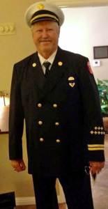 Randy Spikes in dress uniform.