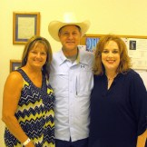 Three of the ice cream judges were (L to R) Wanda Pringle, Russ McDanel, and Julie Crouch.