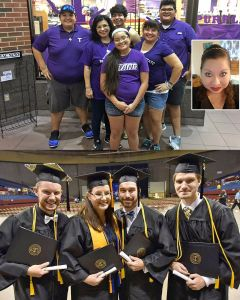 Meet the Noles Family (top photo, back row l-r): Joseph Puente, Daniel Raya, Rudy Puente Jr.; (middle) Mireya Raya, Carmen Noles; (front) Abigail Puente; and (inset) Jennifer Gonzalez. The Waddell family has four enrolled at Tarleton, including (l-r) Matthew, Jody, Neil and Benjamin. (Photos contributed)