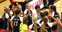 Stephenville was all smiles while opening its season with a four-set win at 5A Burleson Tuesday evening. || TheFlashToday.com photo by BRAD KEITH