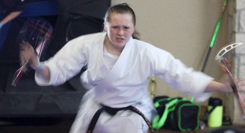 This is a demo from tournament competition at the 2016 Cowboy Capital Karate Championships. The eighth annual Stephenville tournament is Saturday, August 12, at the City Hall events facility on the grounds of City Limits Texas. || The Flash Today file photo
