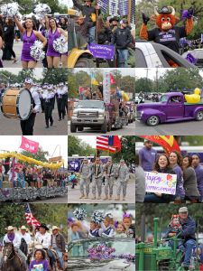 Tarleton State University's Homecoming parade will take place at 10 a.m. Saturday, Oct. 22. Parade entry forms are due Friday, Oct. 14.