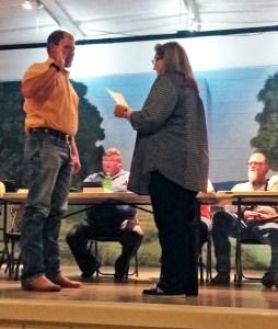 Cliff Jackson was sworn into service at the Dublin City Council meeting Monday night by City Secretary Rhonda Williams.