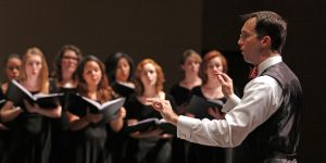 Tarleton State University's choral program will be just one of several groups highlighted during the Dec. 5 Holiday Collage Concert at the Clyde H. Wells Fine Arts Center Auditorium.