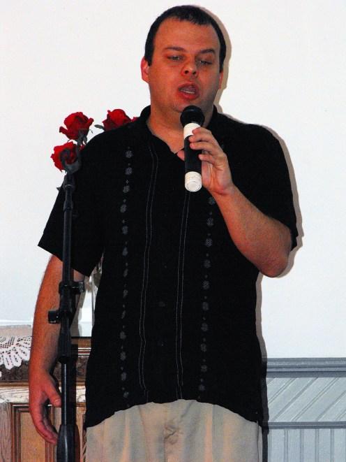 V-Day Musical Tim Turnbeaugh sings