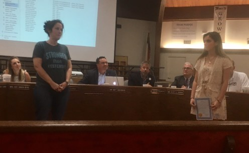 Marisah Johnson was recognized by trustees as a regional gold medalist and national qualifier in the scholastic art and writing contest.