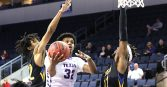 Romond Jenkins of Tarleton State scored 24 points and collected 15 rebounds in just 18 minutes of action in the NABC/Reese's Division II All-Star Game Friday in Sioux Falls, South Dakota.    TheFlashToday.com photo by BRAD KEITH
