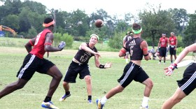 Stephenville and quarterback Tyler Schouten got stronger as the day went on Thursday at the Texas 7-on-7 Championships in College Station. || Photo by The Flash Today