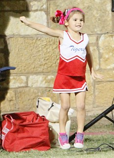 This young lady got fired up for Hico on Little Tiger Night, and it was enough to take the cake, or pie, as the Jake & Dorothy's Cafe Special Moment of the Week. || The Flash Today/JESSIE HORTON