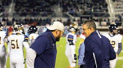 District 8-4A Coach of the Year and Big Country 4A-6A Coach of the Year Greg Winder and staff will join the 2017 Yellow Jackets for football award presentations at 6 p.m. Wednesday at the Paradigm Building at First Baptist Church Stephenville. || Flash media library