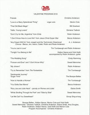 Music Club V-Day program 35 The Program