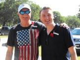 Memorial Day Service 65 Bill Muncey with brand new U.S. Citizen, William Kent