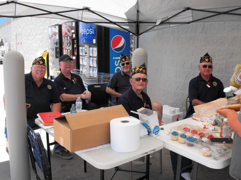 Memorial Day Service Vets serving hot dogs at Wal-Mart