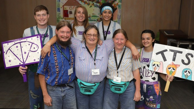 9255a9a26b99c Tarleton State University's Duck Camp was a family affair this weekend for  three family members, including (front, l-r) son William Domitz, mother  Dorothy ...