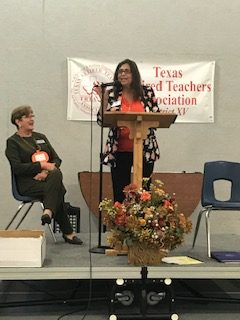 TRTA State President Patricia Macias with Janis Petronis, District 15 President