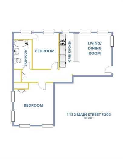 2 Bedroom Apartment available on Main Street in Downtown Peekskill