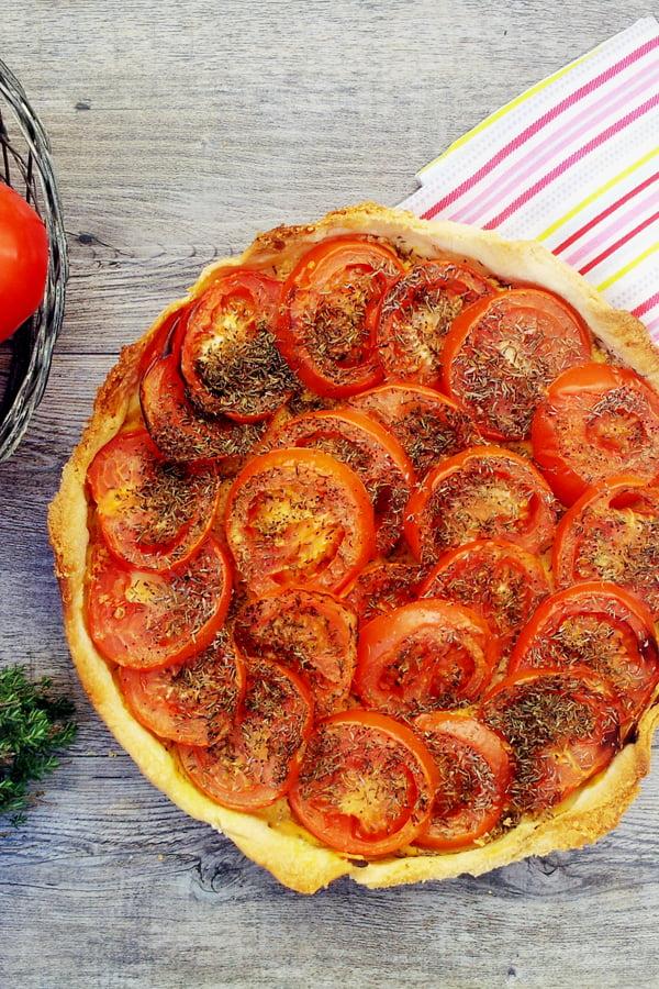 Mediterranean Tomato Tart [vegan] © The Flexitarian - Annabelle Randles