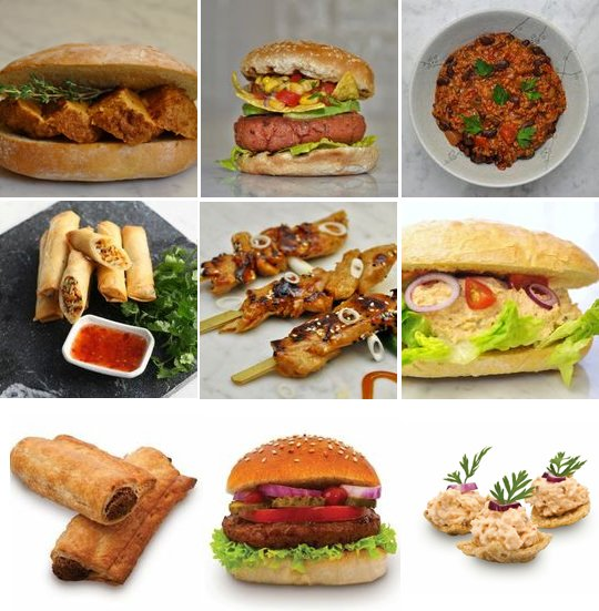 the vegetarian meat free butcher products