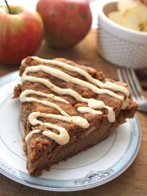 Deep Dish Apple Cinnamon Skillet Cake by Fettle Vegan