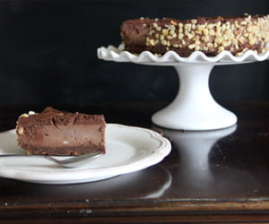 Gianduja Chocolate Mousse Cake by The Vegan Cookie Fairy
