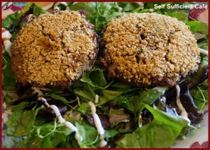 Stuffed Mushrooms by Self Sufficient Cafe