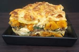 butternut spinack mushrooms lasagna