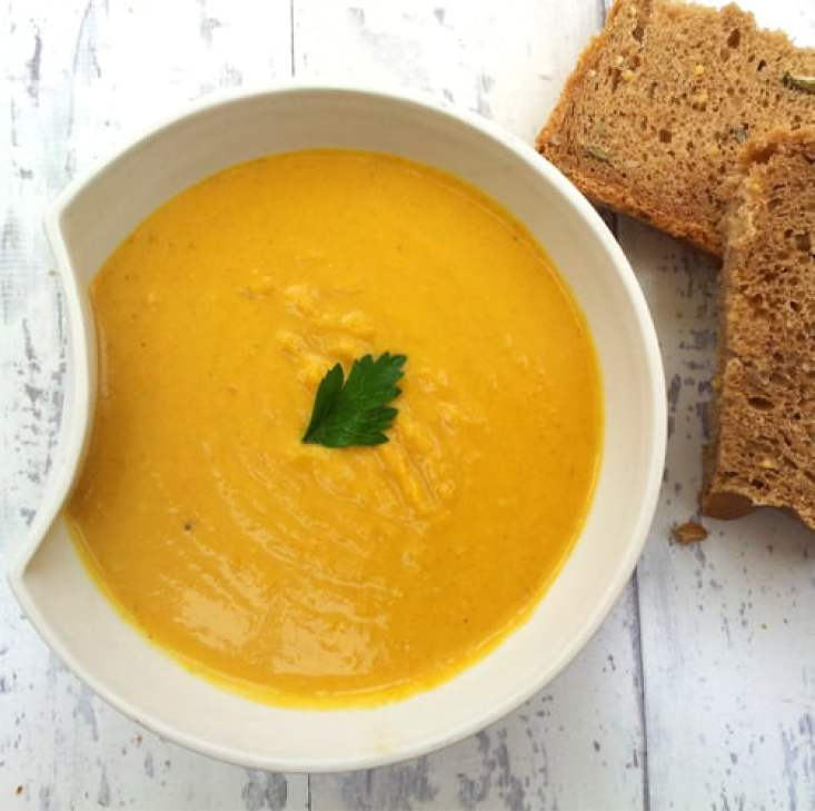 Red Lentil and Carrot Coconut Soup [vegan] by The Flexitarian