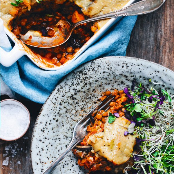 Vegan Sweet Potato & Aubergine Moussaka