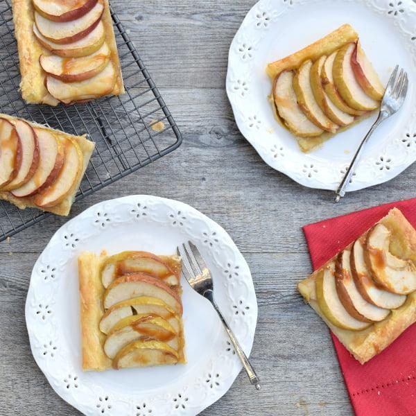 French Apple Tart (Tarte Fine aux Pommes) [vegan] by The Flexitarian