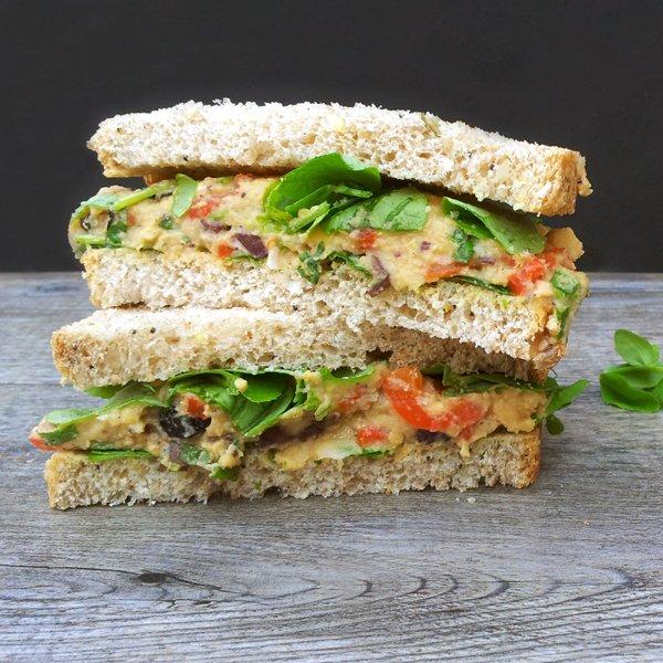 Mediterranean Sandwich [vegan] by The Flexitarian
