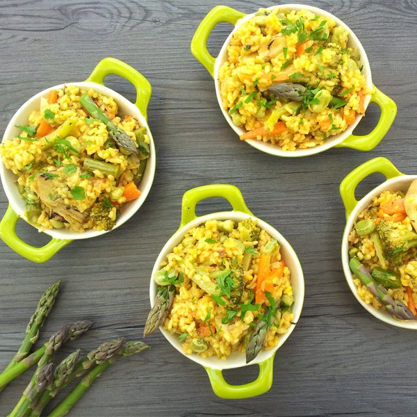 Spring Vegetable Paella [vegan] by The Flexitarian