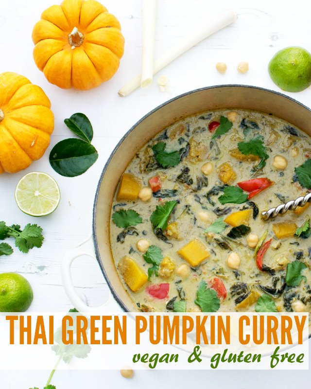 Thai Green Pumpkin Curry [vegan] [gluten free] by The Flexitarian