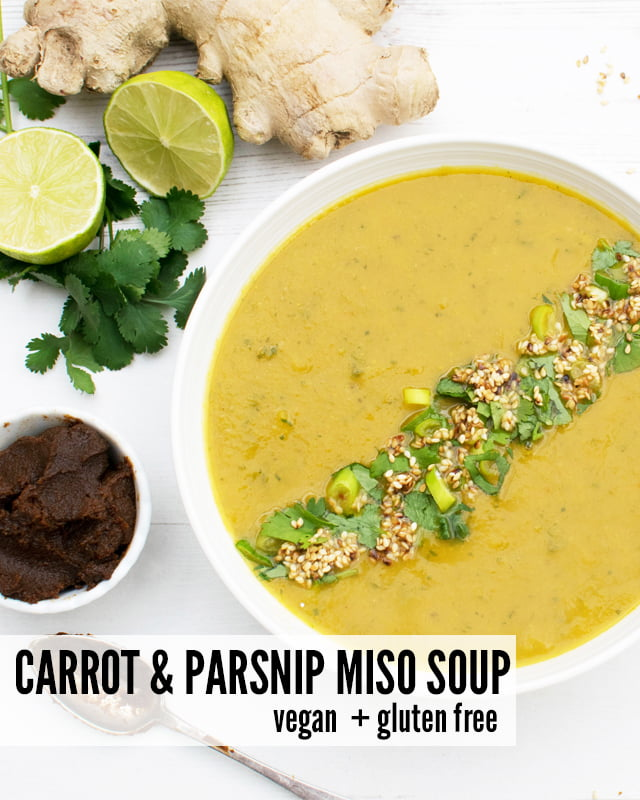 Carrot and Parsnip Miso Soup [vegan] [gluten free] by The Flexitarian