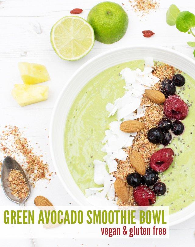 Green Avocado Smoothie Bowl [vegan] [gluten free] by The Flexitarian