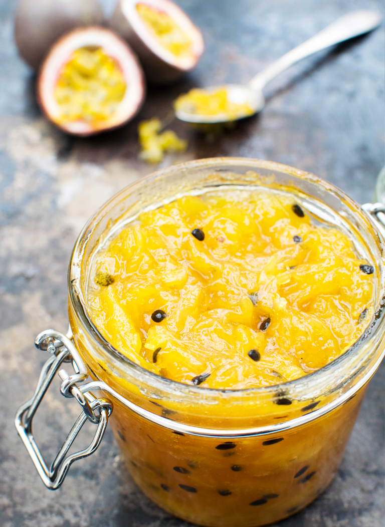 Pineapple & Passion Fruit Jam [vegan] [low sugar] [gluten free] by The Flexitarian