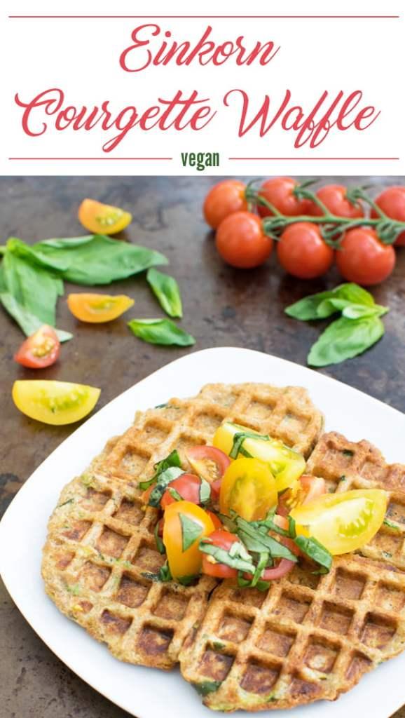Einkorn Courgette Waffles [vegan] by The Flexitarian