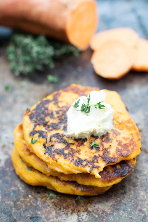 Leftover Sweet Potato Mash Pancake [vegetarian] by The Flexitarian