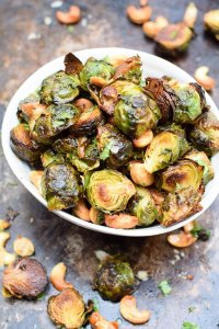 Asian Roasted Brussels Sprouts with Cashews [vegan] [gluten free] by The Flexitarian