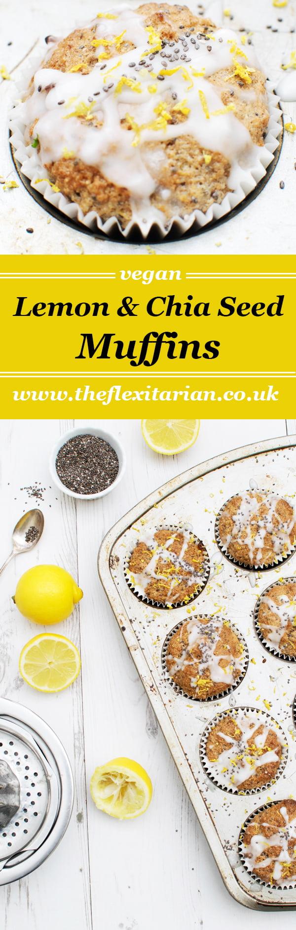Lemon & Chia Seed Muffins [vegan] by The Flexitarian