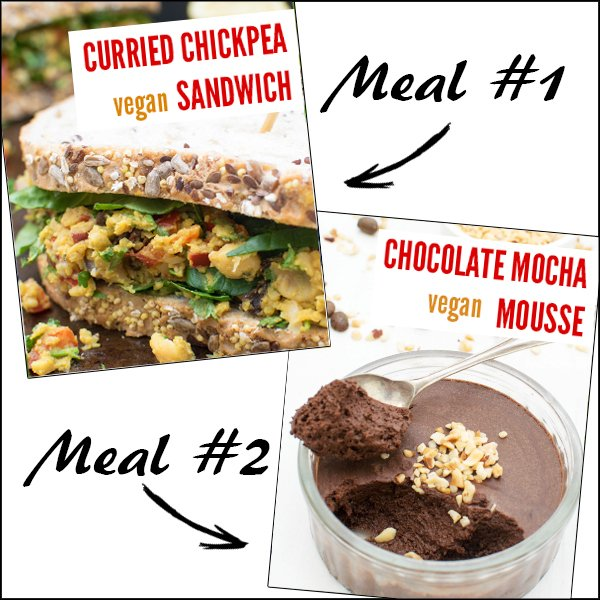 Curried Chickpea Sandwick Chocolate Mocha Mousse Leftover Recipes
