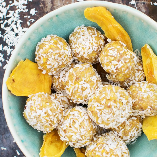 Mango Cashew & Ginger Energy Balls [vegan] [gluten free] by The Flexitarian