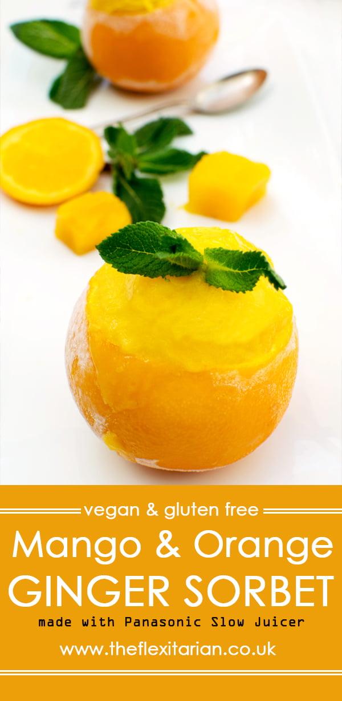 Mango & Orange Ginger Sorbet [vegan] [gluten free] by The Flexitarian