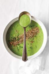 Chill-out Cucumber and Avocado Soup with Mint and Dukkah [vegan] [gluten free] by Sarah Britton