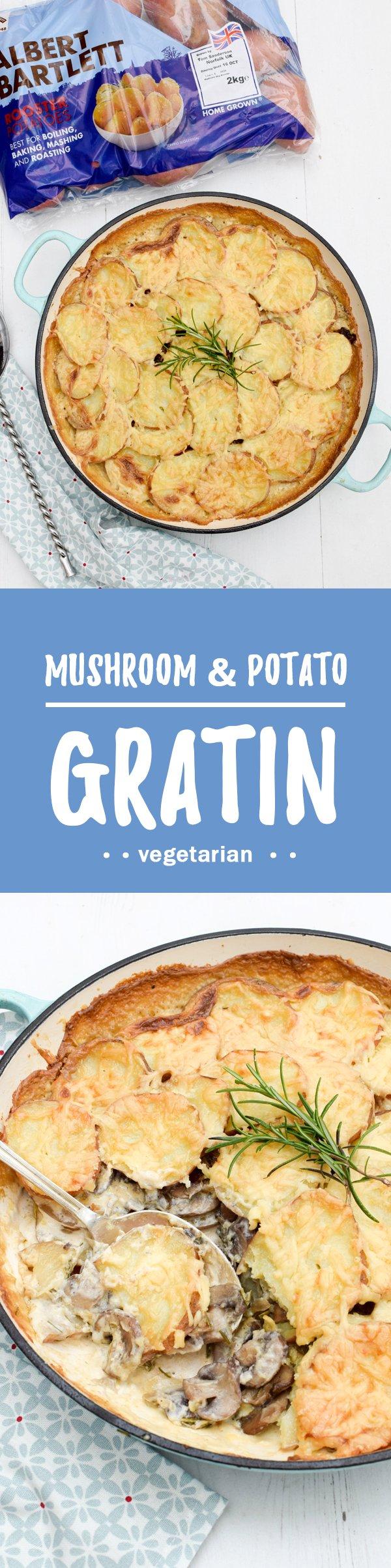 Mushroom & Potato Gratin [vegetarian] by The Flexitarian