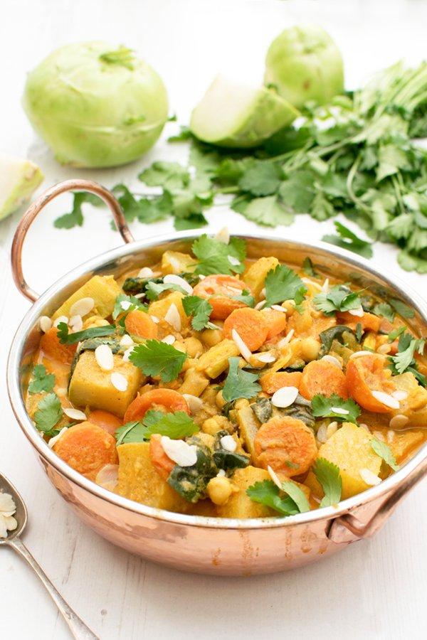 Easy Kohlrabi Curry [vegetarian] by The Flexitarian