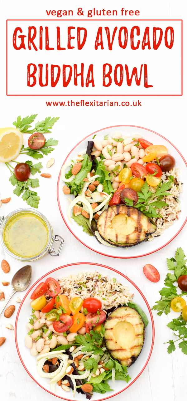 Grilled Avocado Buddha Bowl [vegan] [gluten free] © Annabelle Randles - The Flexitarian
