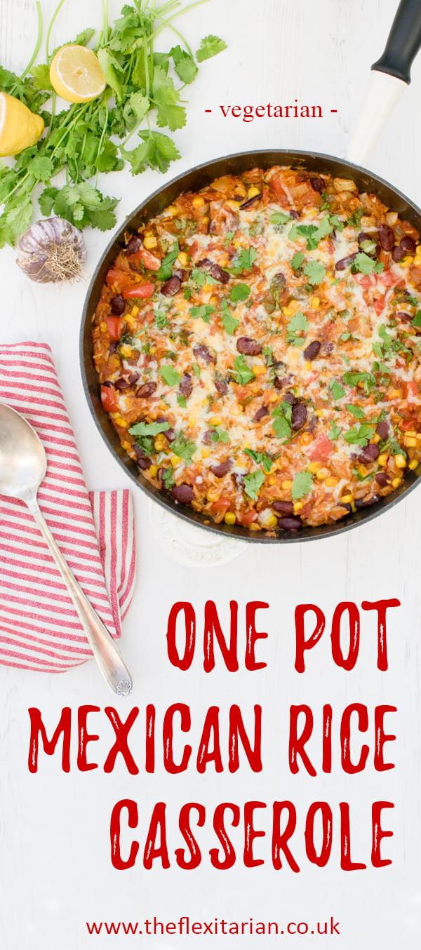 One-Pot Mexican Rice Casserole [vegetarian] © The Flexitarian - Annabelle Randles